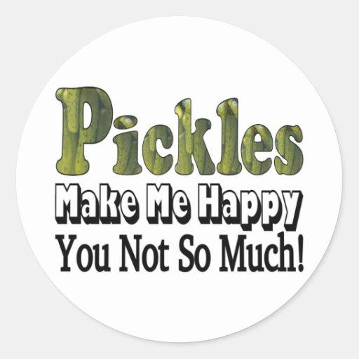 Pickles Make Me Happy Classic Round Sticker