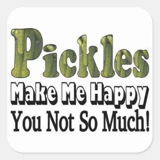 Pickles Make Me Happy Square Sticker