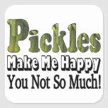 Pickles Make Me Happy Stickers