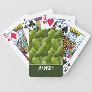 Pickles; Pickle Pattern Bicycle Playing Cards