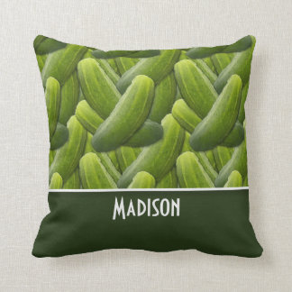 Pickles; Pickle Pattern Throw Pillow
