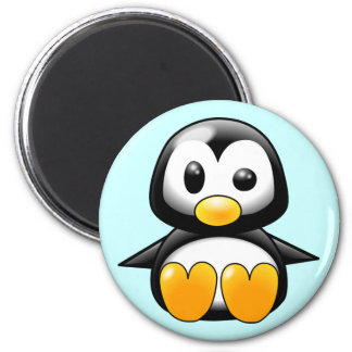 Pickles the Cute Baby Penguin Cartoon 2 Inch Round Magnet