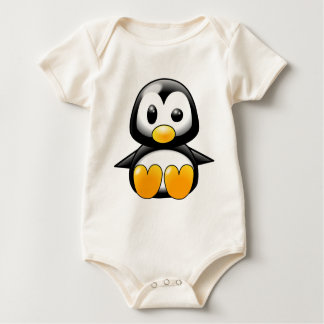 Pickles the Cute Baby Penguin Cartoon Baby Bodysuit