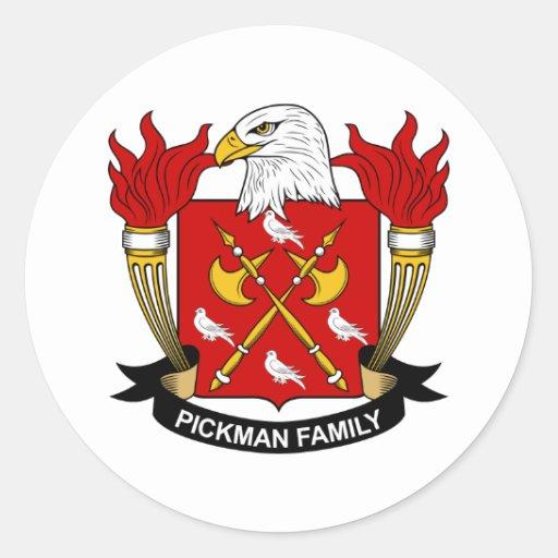 Pickman Family Crest Classic Round Sticker