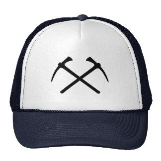 Picks crossed pickax trucker hat