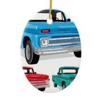PickUp Farm Truck Ceramic Ornament
