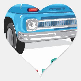PickUp Farm Truck Heart Sticker