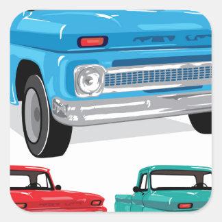 PickUp Farm Truck Square Sticker