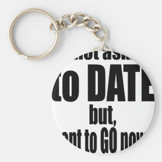 pickup line asking date black awesome party couple keychain