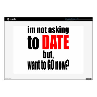 pickup line asking date red awesome party couple n laptop decal