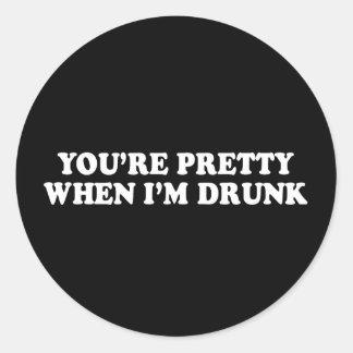 Pickup Line - YOURE PRETTY WHEN IM DRUNK T-SHIRT Sticker