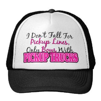 Pickup Lines and Pickup Trucks Mesh Hats