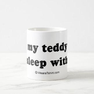 "PICKUP LINES - ""I lost my teddy bear, can I sleep  Classic White Coffee Mug"