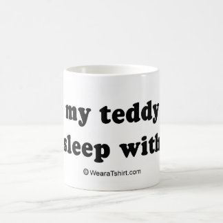"PICKUP LINES - ""I lost my teddy bear, can I sleep  Coffee Mug"