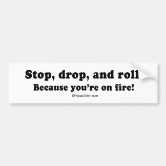 "PICKUP LINES - ""You're on fire"" Car Bumper Sticker"
