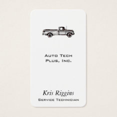 Pickup Truck / Auto Repair / Car Dealer Business Card at Zazzle