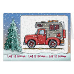 Pickup Truck Camper RV Holiday Cards