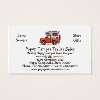 Pickup Truck Camper, RV, trailer or cabin Business Card