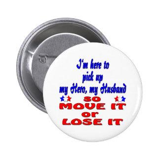 pickupherohusband5 pin redondo de 2 pulgadas