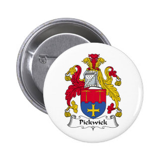 Pickwick Family Crest Pinback Button