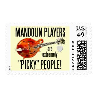 Picky Mandolinists Postage Stamp