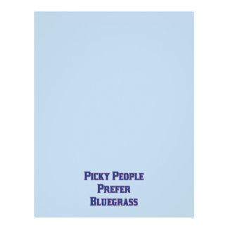 "Picky People Prefer Bluegrass 8.5"" X 11"" Flyer"