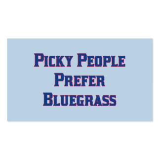 Picky People Prefer Bluegrass Double-Sided Standard Business Cards (Pack Of 100)