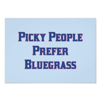 Picky People Prefer Bluegrass Card