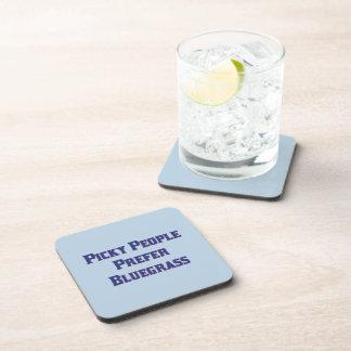 Picky People Prefer Bluegrass Drink Coaster