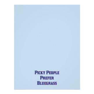 """Picky People Prefer Bluegrass 8.5"""" X 11"""" Flyer"""