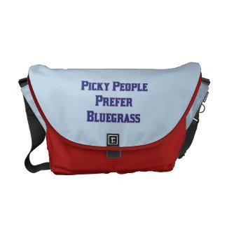 Picky People Prefer Bluegrass Messenger Bag