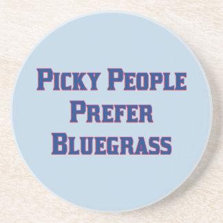 Picky People Prefer Bluegrass Sandstone Coaster