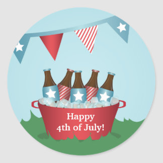 Picnic 4th of July Party Stickers