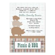 Picnic and BBQ 5x7 Paper Invitation Card at Zazzle