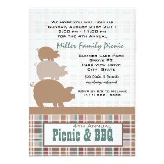 Picnic and BBQ 5x7 Paper Invitation Card