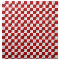 Picnic Ants Insect Ant Graphic Checkered Design Napkin
