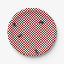 Picnic Ants Paper Plate ...  sc 1 st  Zazzle & Black White Checkered Plates | Zazzle