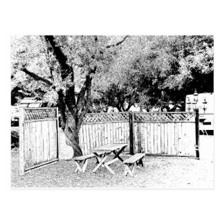 Picnic Area in the Campground Post Cards