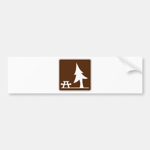 Picnic Area Street Sign Car Bumper Sticker