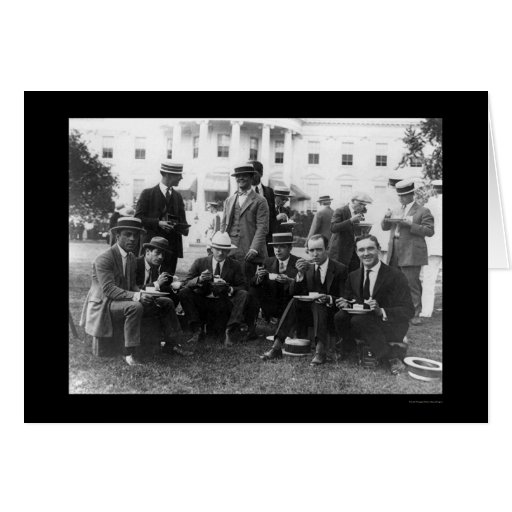 Picnic at White House in DC 1920 Greeting Cards