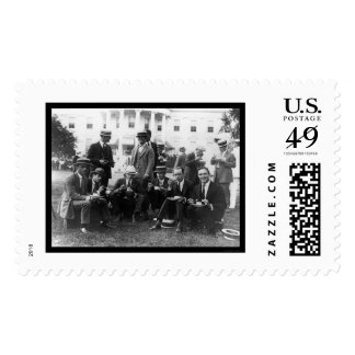 Picnic at White House in DC 1920 Stamps