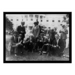 Picnic at White House in DC 1920 Print