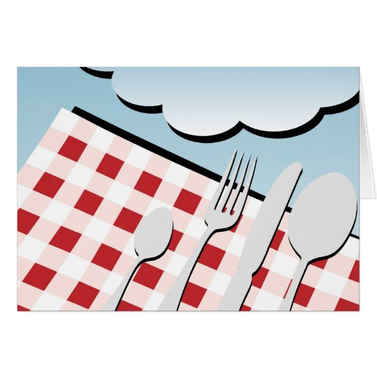 Picnic Background Card