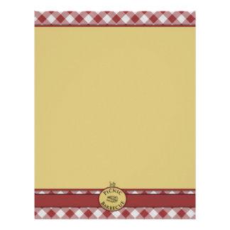 Picnic Barbecue Red Checkered Letterhead
