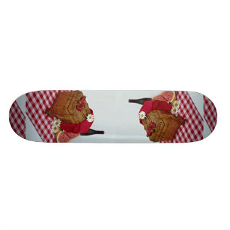 Picnic basket and watermelon slices skate deck