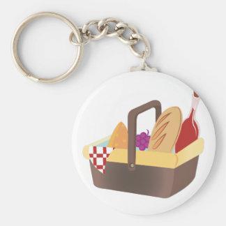 Picnic Basket Basic Round Button Keychain