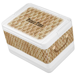 Picnic Basket Look Igloo Can Cooler