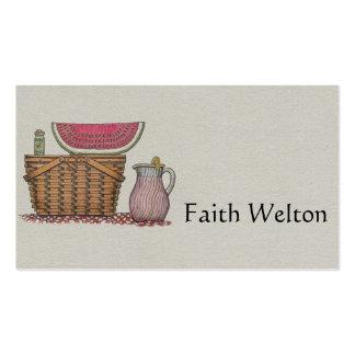Picnic Basket & Watermelon Business Card
