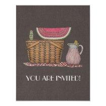 Picnic Basket & Watermelon Card