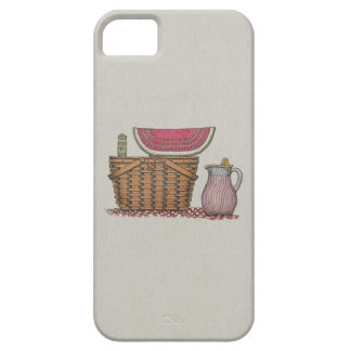 Picnic Basket & Watermelon iPhone 5 Cover